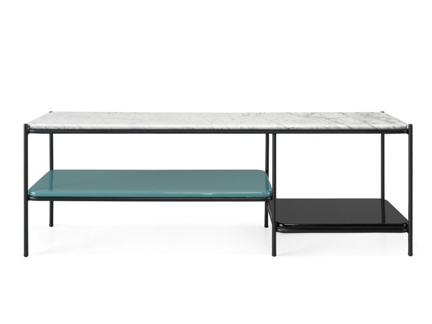Lacquered rectangular console table STANLEY | Console table by PRADDY