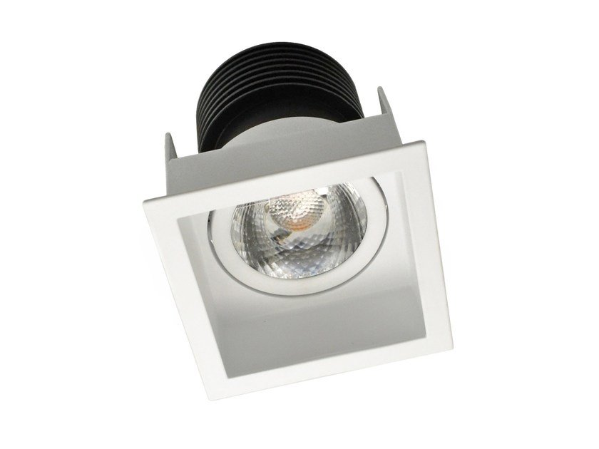 LED square recessed aluminium spotlight STAP by LED BCN