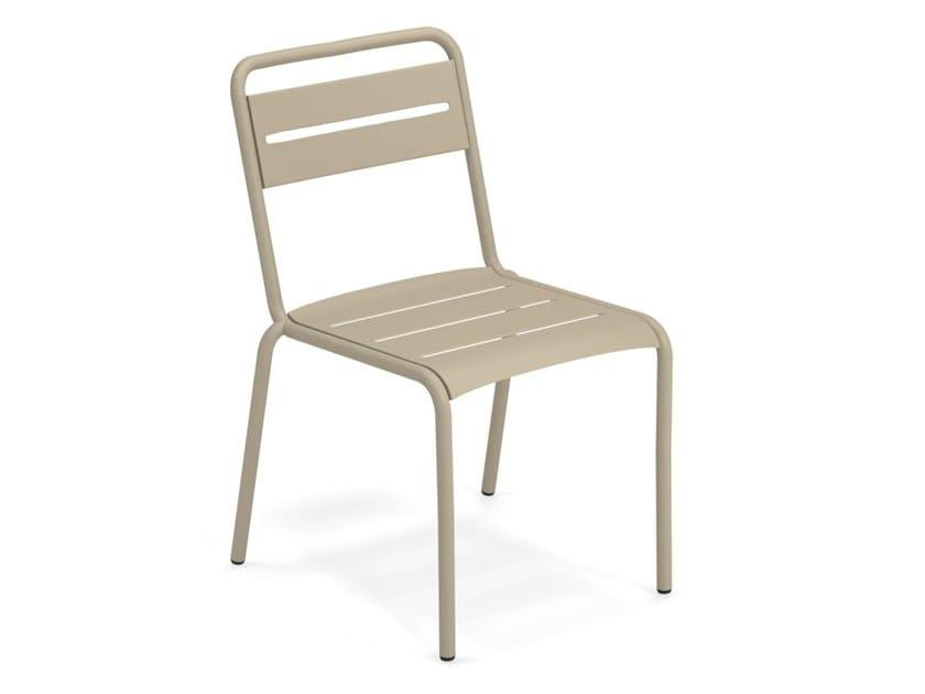 Stackable steel garden chair STAR | Chair by emu