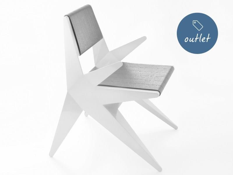 Sedia in alluminio con braccioli STAR | Sedia con braccioli by Lamberti Design