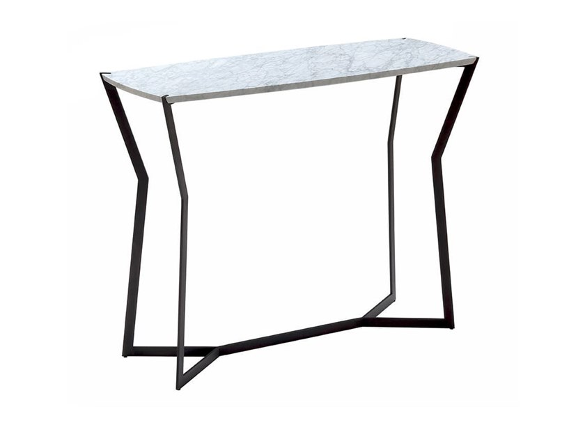 Rectangular Carrara marble console table STAR | Console table by COEDITION