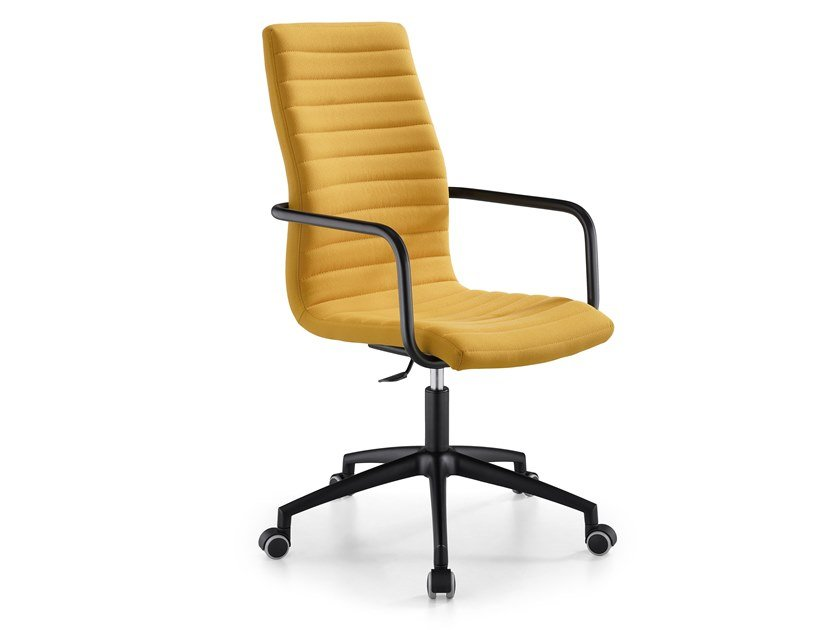 Swivel fabric office chair with armrests STAR DPA by Midj