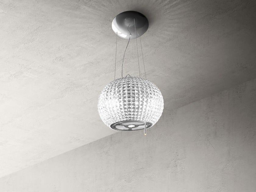 Cappa ad isola in acciaio inox e vetro con illuminazione integrata ...
