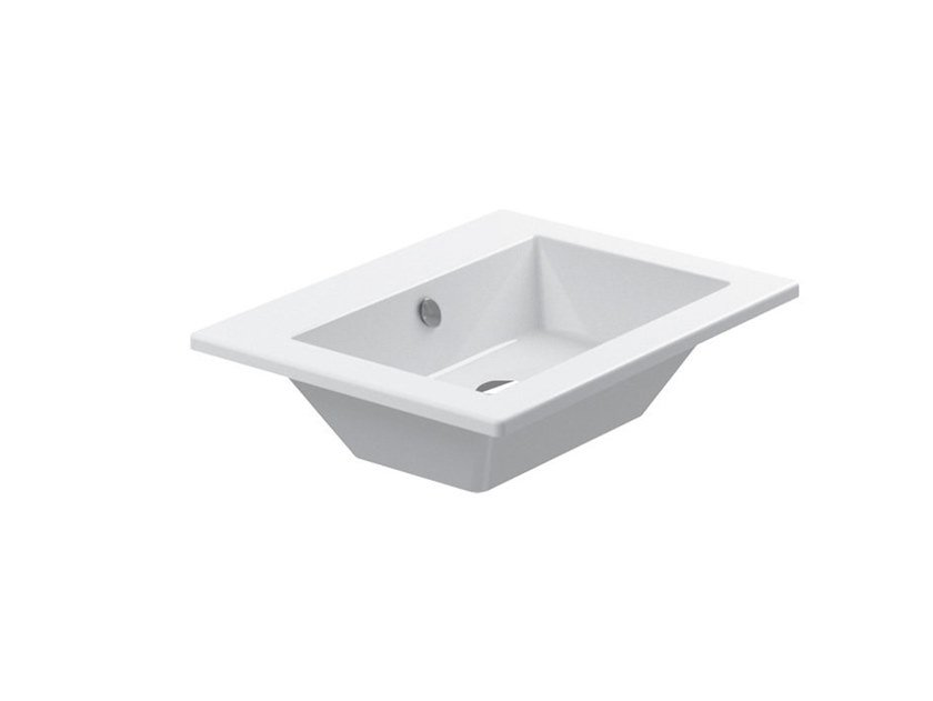 Ceramic washbasin with overflow STAR | Washbasin by CERAMICA CATALANO