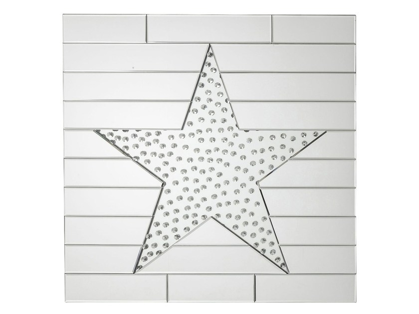 Square wall-mounted mirror STAR RAINDROPS by KARE-DESIGN