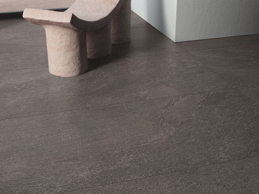 Pavimento/rivestimento in gres porcellanato effetto pietra effetto pietra per interni STAR ROAD GRAPHITE by Marca Corona