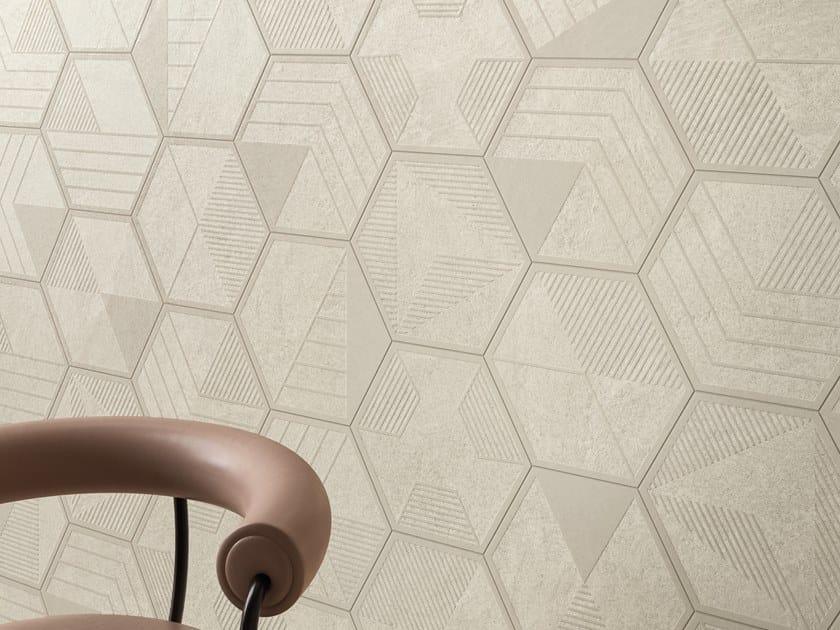 Pavimento/rivestimento in gres porcellanato per interni STAR ROAD MOON by Marca Corona