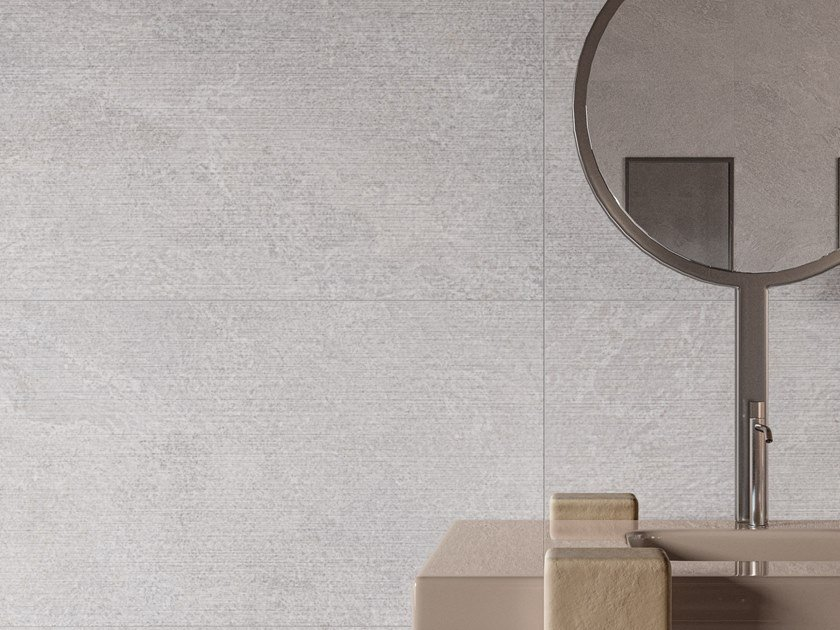 Pavimento/rivestimento in gres porcellanato effetto pietra per interni effetto pietra STAR ROAD PLATINUM by Marca Corona