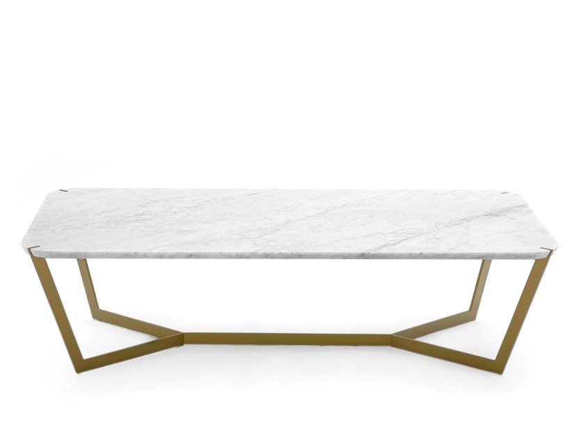 Low rectangular marble coffee table STAR | Rectangular coffee table by COEDITION