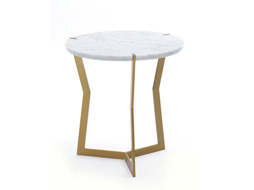 Round marble side table STAR | Side table by COEDITION