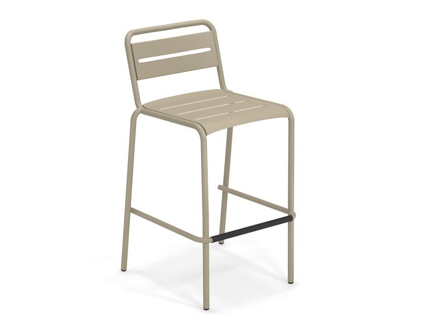 High stackable steel stool STAR | Stool by emu