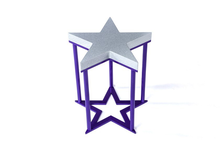 Aluminium stool STAR by altreforme