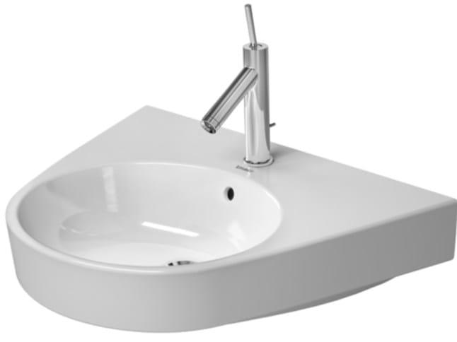 Pedestal ceramic washbasin STARCK 2 | Ceramic washbasin by Duravit