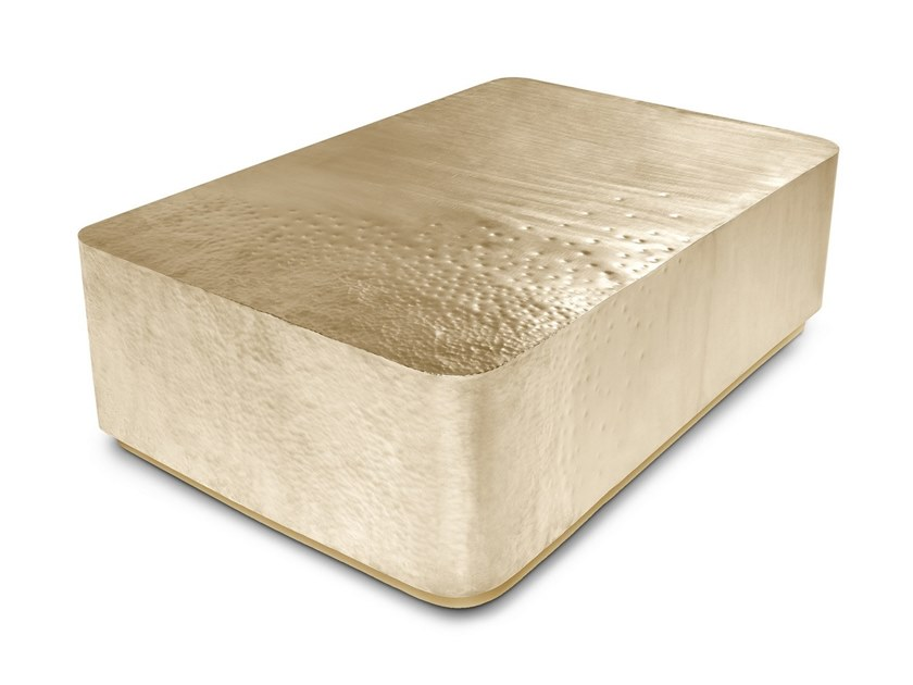Rectangular brass coffee table STARDUST by Ginger & Jagger