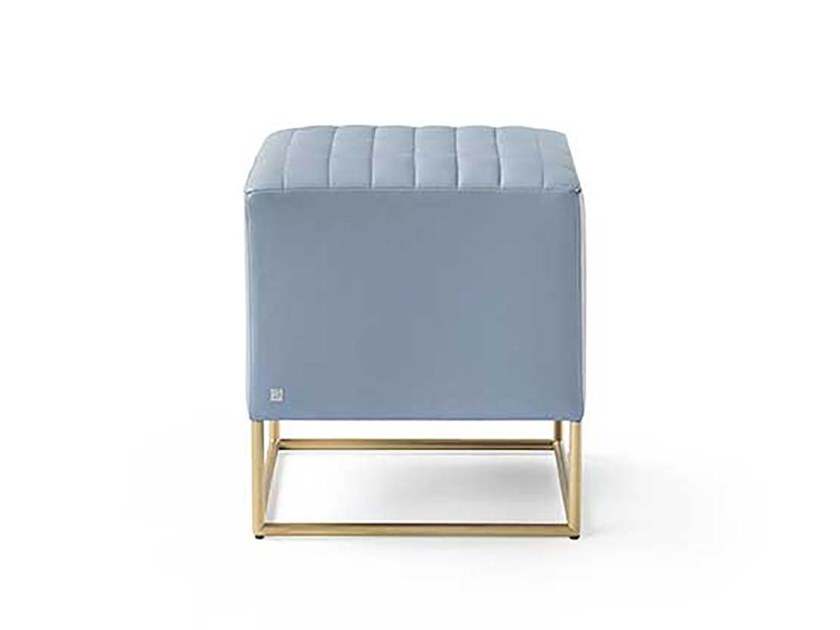 Upholstered square pouf STARDUST | Pouf by Busnelli