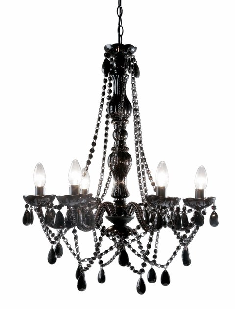 Classic style acrylic glass chandelier STARLIGHT BLACK by KARE-DESIGN