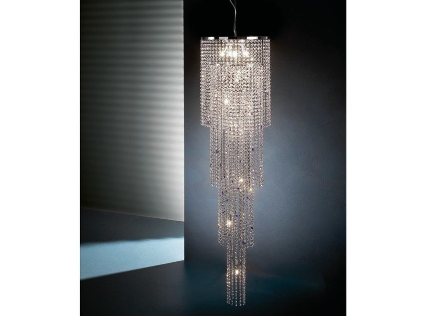 Chandelier with crystals STARS S14 by Euroluce Lampadari