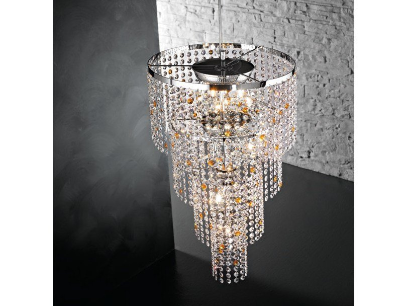 Chandelier with crystals STARS S11 by Euroluce Lampadari