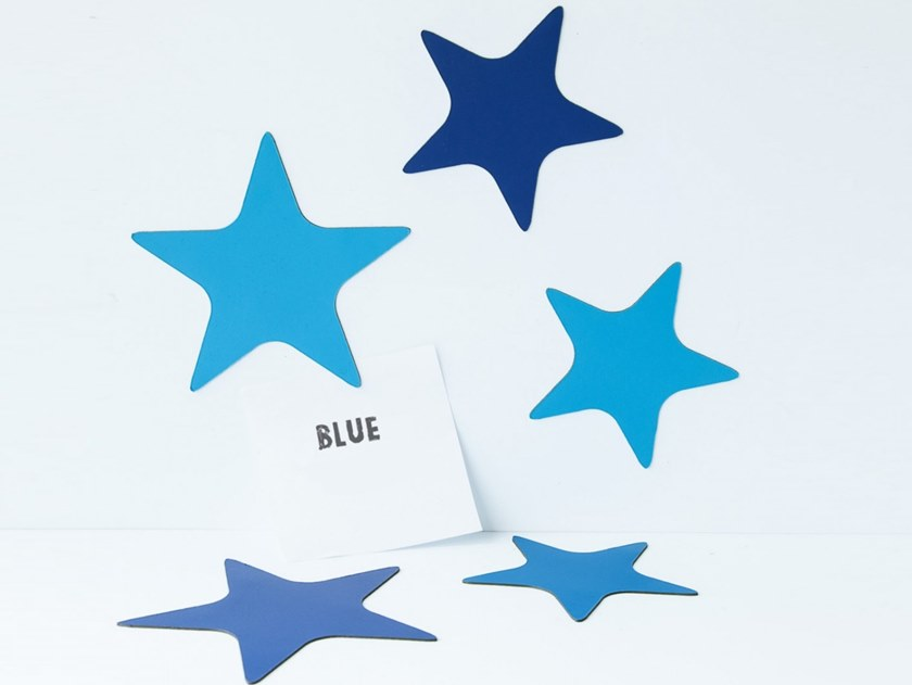 Magnet STARS SHADES OF BLUE by Groovy Magnets