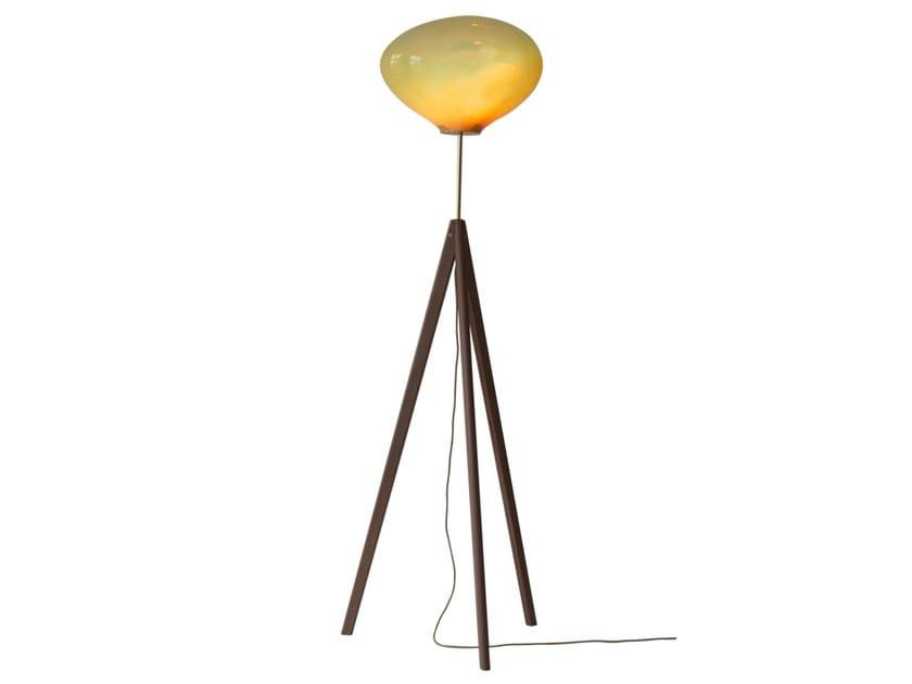 Handmade blown glass floor lamp STATI X by ELOA