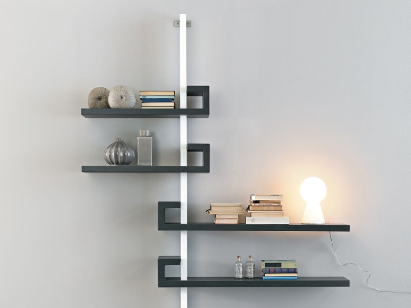 Open wall-mounted bookcase STATICA by Lago