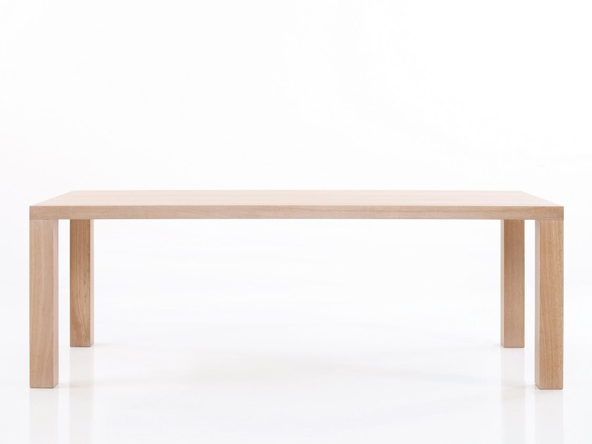 Rectangular wooden dining table STATO | Table by more