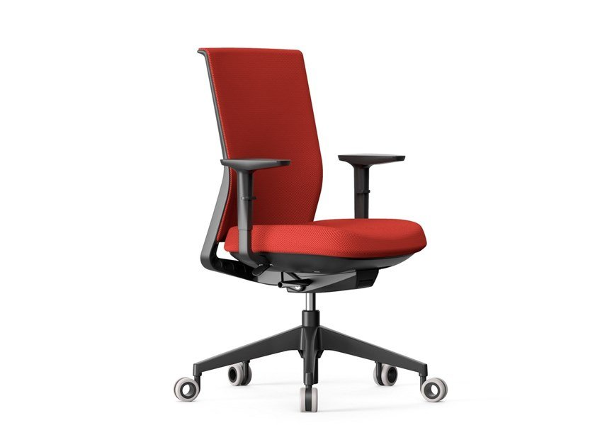 Height-adjustable swivel aluminium office chair with 4-Spoke base STAY | Aluminium office chair by ACTIU