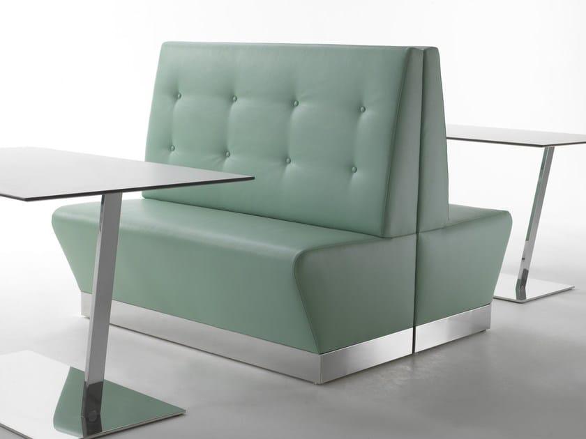 Upholstered restaurant booth STEAK & STILTON by Segis