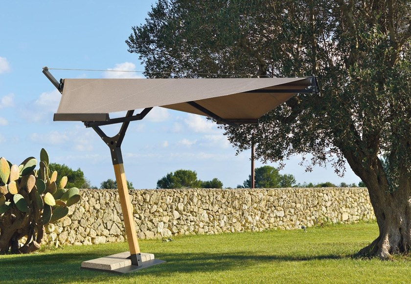 Offset Garden umbrella STEALTH by Frigerio Living
