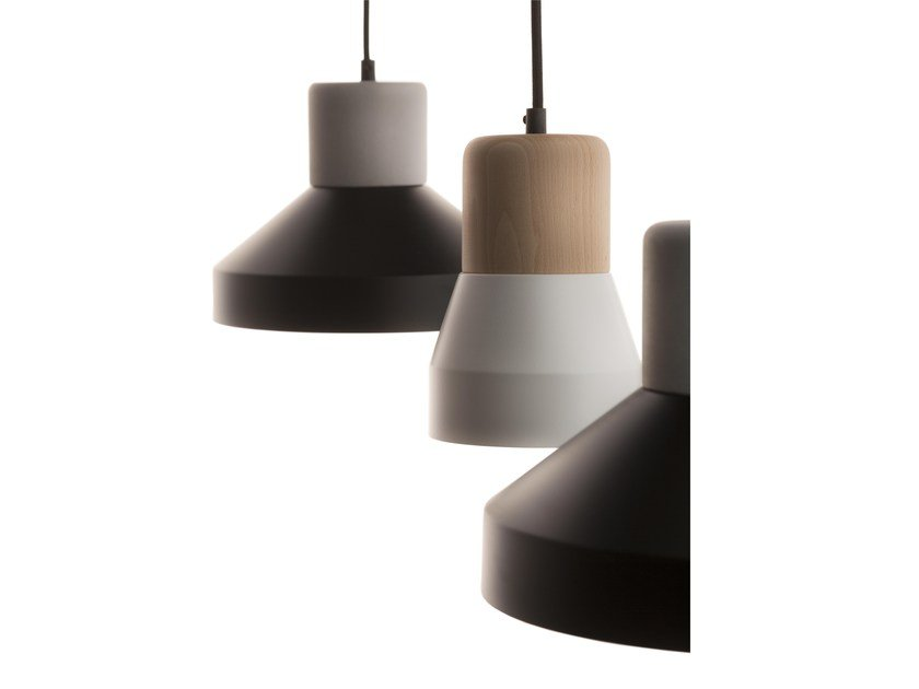 Pendant lamp STEEL WOOD LAMP 240 MAT by Specimen Editions