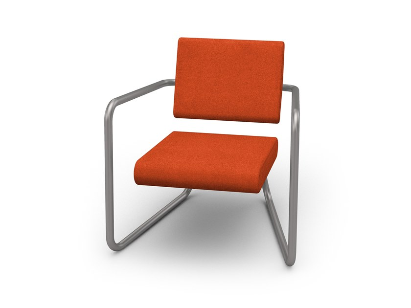 Sled base fabric armchair with armrests STEELER | Armchair by Lonc