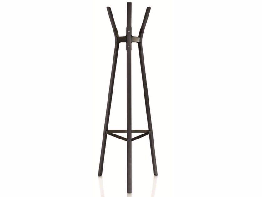 Wooden coat rack STEELWOOD COAT STAND | Coat rack by Magis