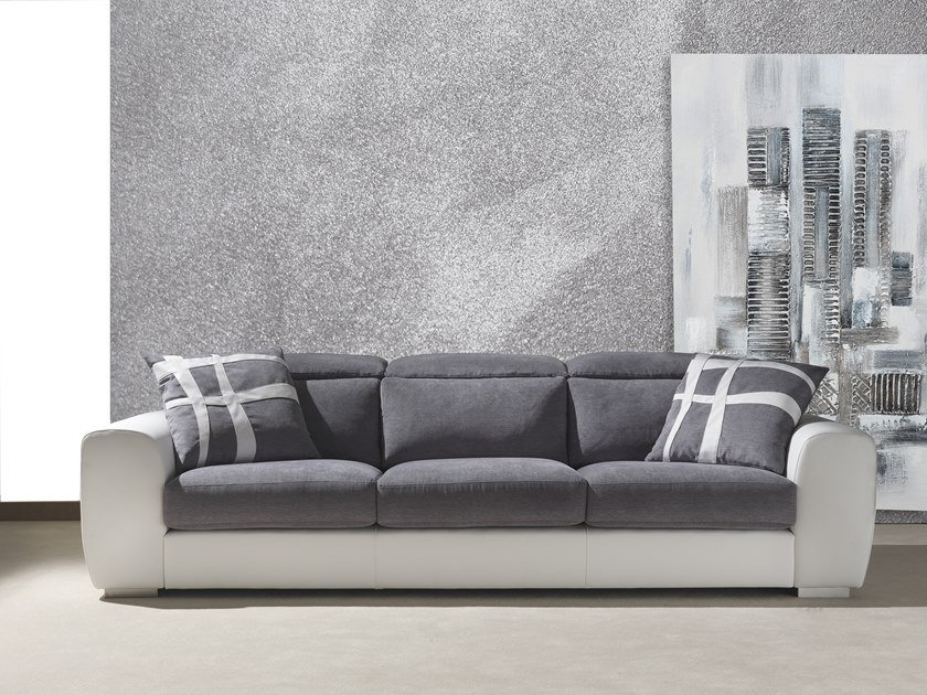 Fabric sofa with headrest STELLA | 4 seater sofa by Flexstyle