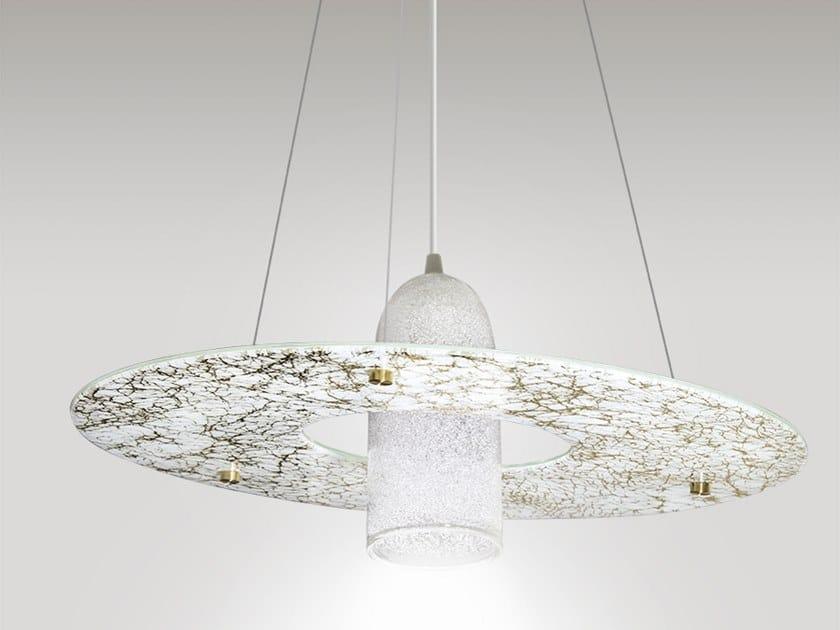 LED handmade glass pendant lamp STELLA by ENGI