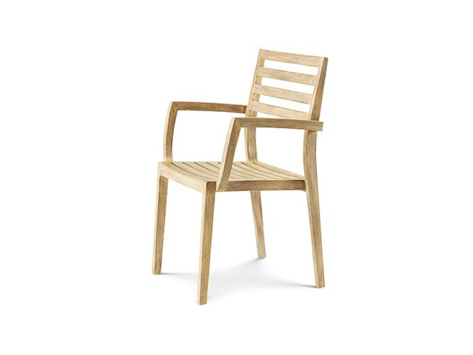 Stackable wooden garden chair STELLA by Ethimo