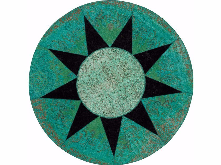 Round wool rug STAR by Italy Dream Design