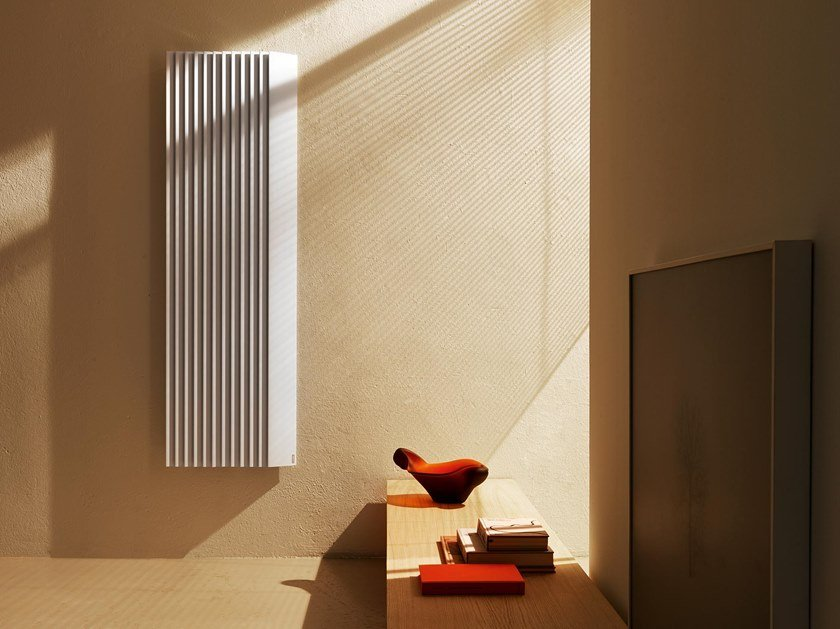 Dual energy extruded aluminium decorative radiator STEP-BY-STEP by Tubes Radiatori