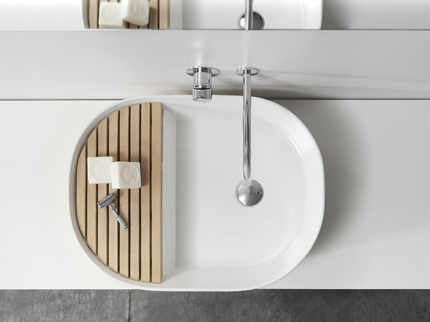 Countertop ceramic washbasin STEP by Ex.t