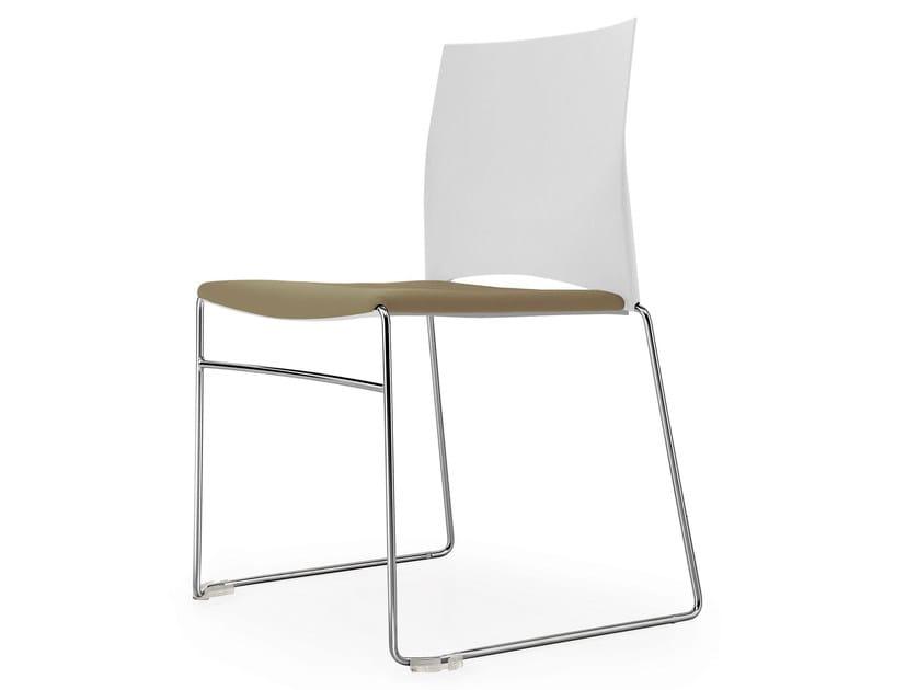 Sled base stackable chair STEP | Chair by Quinti Sedute