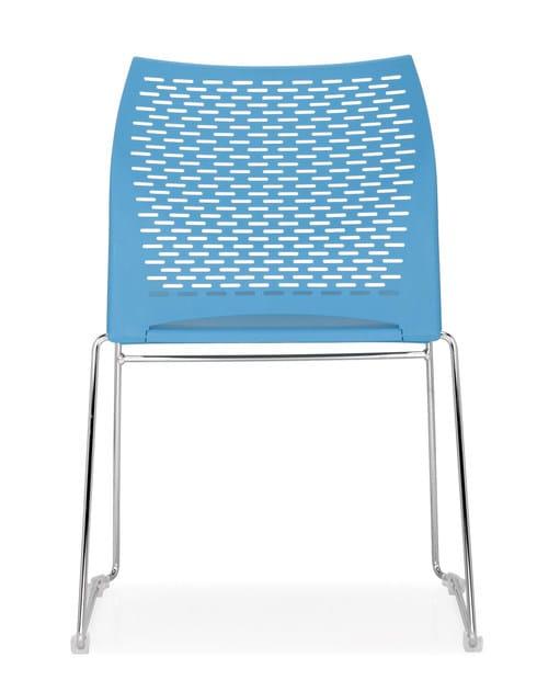 Sled base stackable chair STEP | Sled base chair by Quinti Sedute