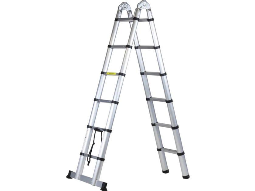 Aluminium heavy duty ladder STEPX 380 by SVELT
