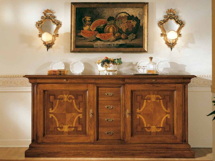 Solid wood sideboard with doors with drawers STILE   Sideboard by Arvestyle