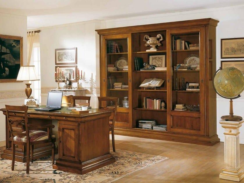 Libreria a giorno in legno massello STILE | Libreria in legno ...