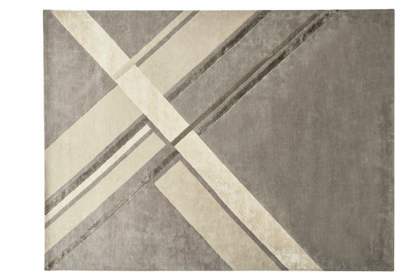Handmade rectangular fabric rug STILEMA by Ditre Italia