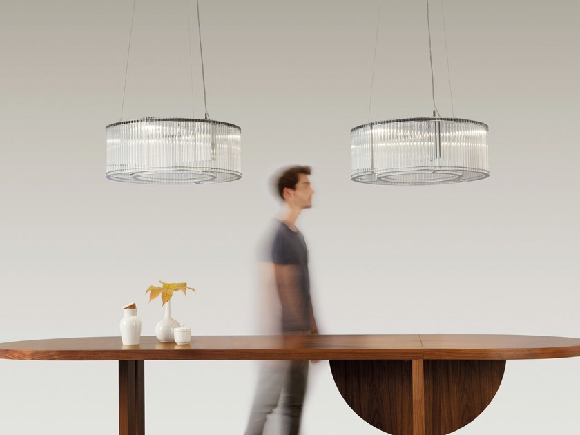 Licht Im Raum glass and stainless steel pendant l stilio uno 550 by licht im raum