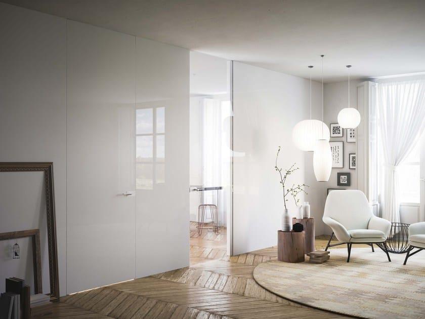 Flush-fitting glass door FILOMURO LIGHT | Flush-fitting door by ADIELLE