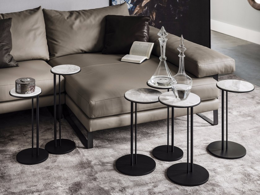 Round ceramic coffee table STING by Cattelan Italia