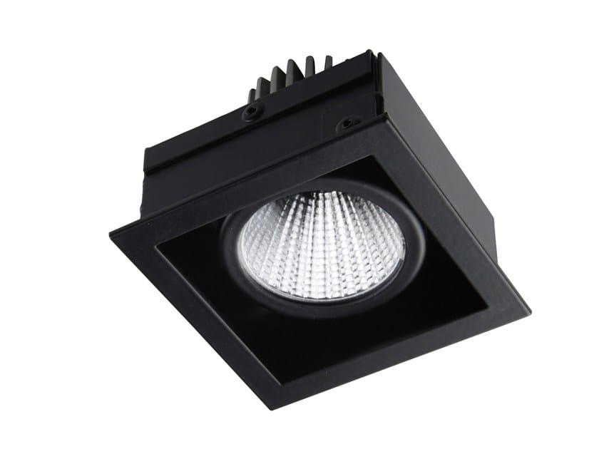 LED square recessed steel spotlight STIP 1 by LED BCN