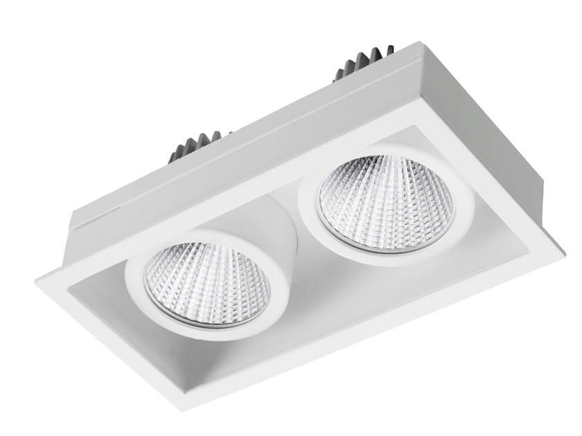 Faretto a LED rettangolare in acciaio da incasso STIP 2 by LED BCN