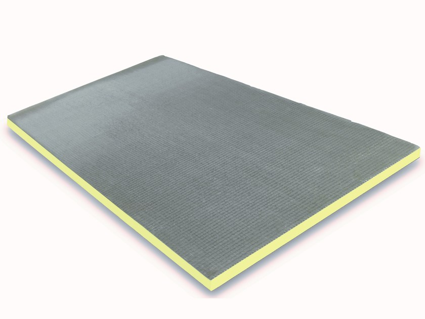 Polyester thermal insulation panel STIREN X CEM by Isolmar